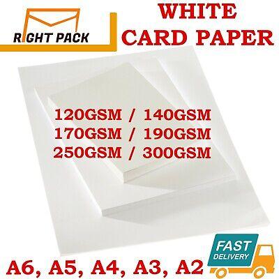 A2 A3 A4 A5 A6 WHITE CARD THICK PAPER CARDBOARD PRINTER COPIER SHEETS GSM CRAFTS