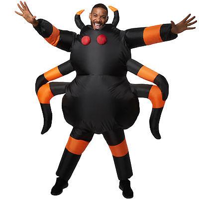 Unisex Kostüm aufblasbar Spinne Tarantula schwarz Fasching Karneval Halloween