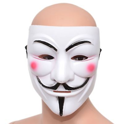 Anonymous V For Vendetta Face Mask Guy Fawkes Halloween Fancy Dress Party Supply
