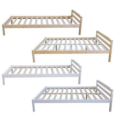 Holzbett Doppelbett Jugendbett 90x200 140x200 Bettgestell Einzelbett Kiefer Bett