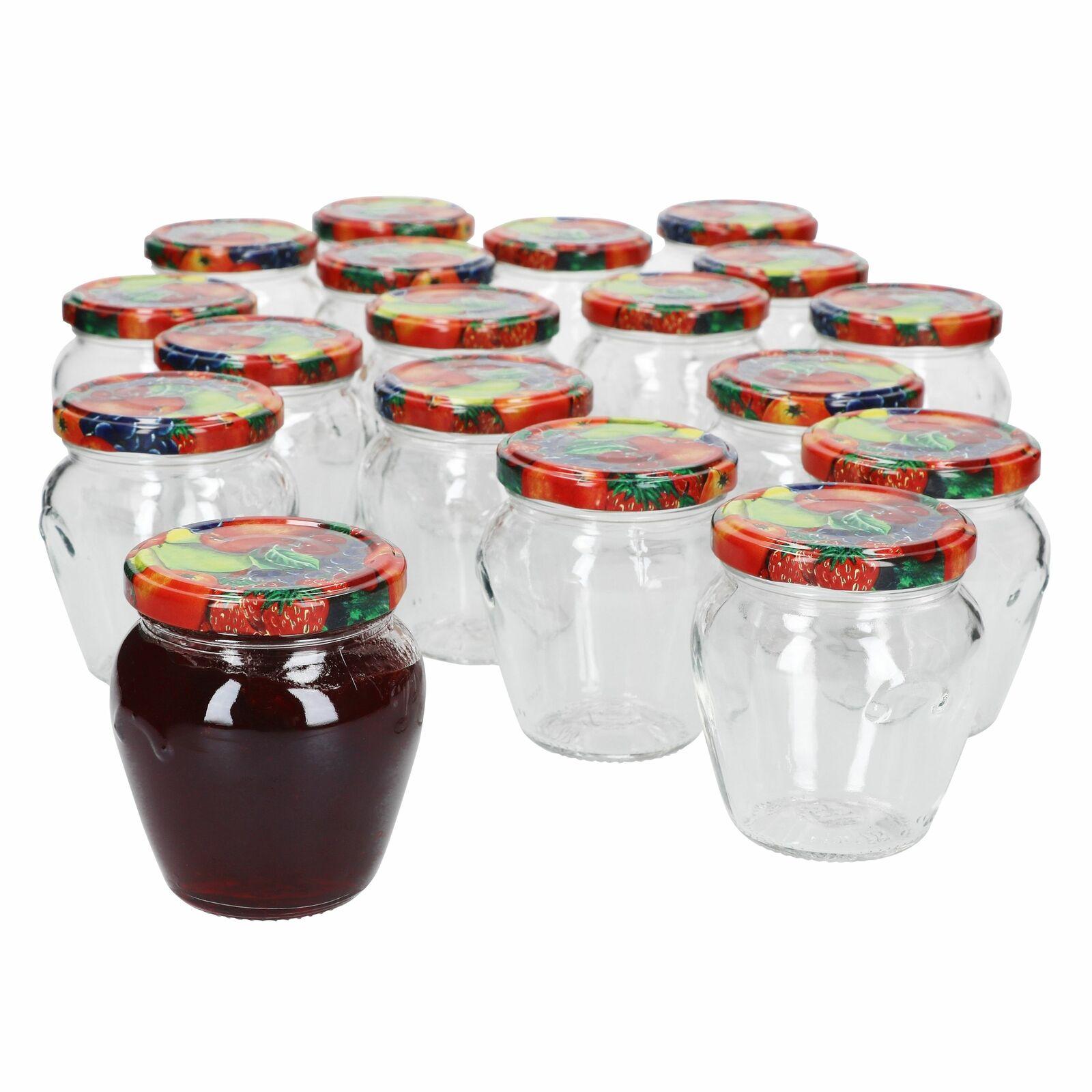 18er Set Marmeladenglas 212ml Deckel Obst Einmachgläser Einkochgläser Gläser