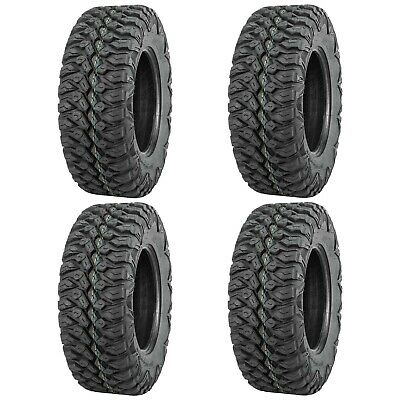 Full set of QuadBoss QBT846 (8ply) Radial 26x9-12 and 26x11-12 ATV Tires (4)