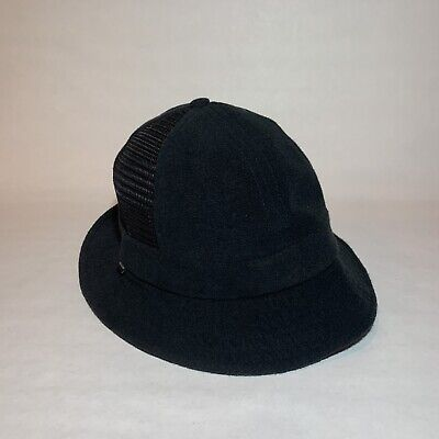 Authentic Terry Side Mesh Bell Crusher Bucket Hat Black -