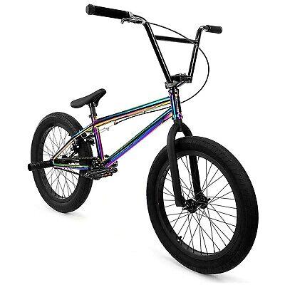 "Elite BMX 20"" Bike Destro Freestyle Oil Slick Neo Chrome 3pc Crank"