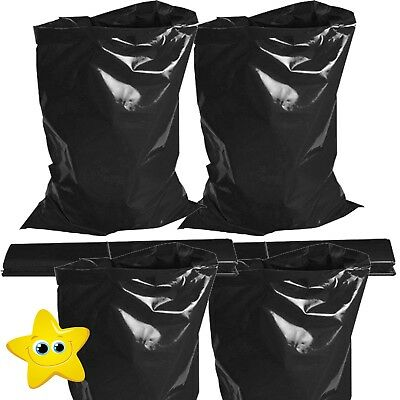 100 x EXTRA HEAVY DUTY BLACK RUBBLE BAGS/SACKS BUILDERS 30kg MAX STRENGTH