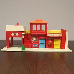 1973 Fisher Price Toys Play Family Village