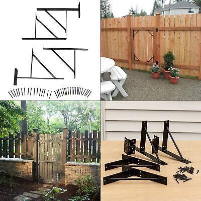 easygate no-sag gate bracket kit | homax steel hardware fence heavy duty new pre