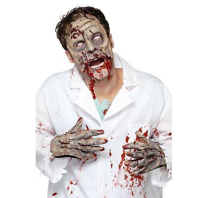 Adults Zombie Latex Mask Gloves Halloween Horror Costume Accessory Kit Set - Halloween Latex Mask Kit