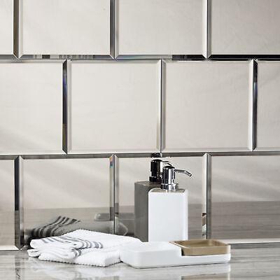 Abolos Reflections 8 in. x 8 in. Mirror Field Glossy Backsplash & Kitchen Tile
