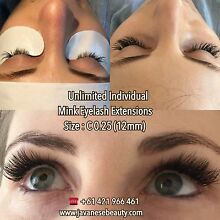 $80 CLASSIC MINK EYELASH EXTENSIONS Maylands Bayswater Area Preview