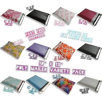 120 Mix Design 10x13 Poly Mailers Variety Pack 10 Ea