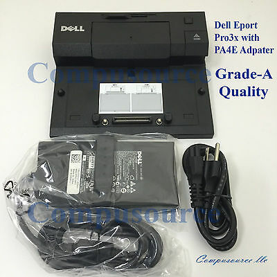 Dell Docking Station EPort Pro3x with PA4E adapter Latitude E5400 E6400 E6410