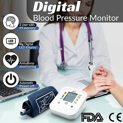 Upper Arm Blood Pressure Monitor Pulse Reader With Voice Broadcast.free Mask