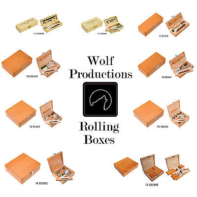 WOLF PRODUCTION ROLLING BOXES STASH BOX DELUXE WOODEN WOOD STORAGE BOX