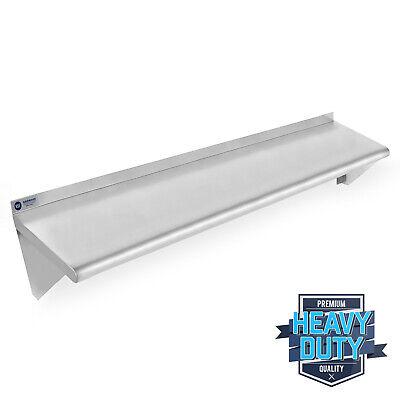 Open Box - Stainless Steel Kitchen Wall Shelf Restaurant Shelving - 18 X 48