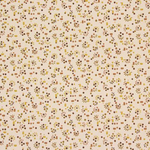 1940s Vintage Wallpaper Brown Yellow Starburst Confetti