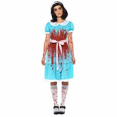 Adult Ladies The Shining Twin Sister Girl Twins Horror Movie Halloween Costume
