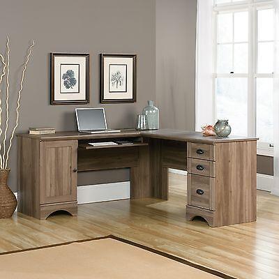 مكتب جديد Corner Computer Desk – Salt Oak – Harbor View Collection (417586)