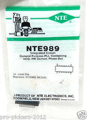 Nte Nte989 Ic General Purpose Pll Single 14-pin Pdip
