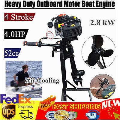 Hangkai 4stroke 4hp Outboard Motor Fishing Boat Engine Heavy Duty Cdi Air Cooled