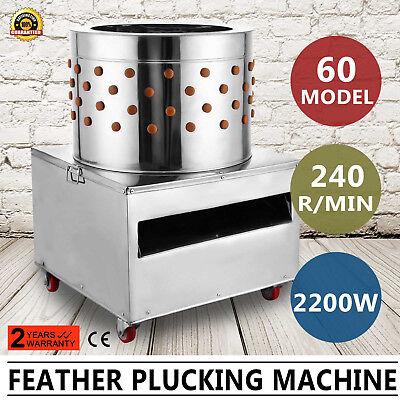 New Turkey Chicken Plucker Plucking Machine Poultry De-feather 60 S