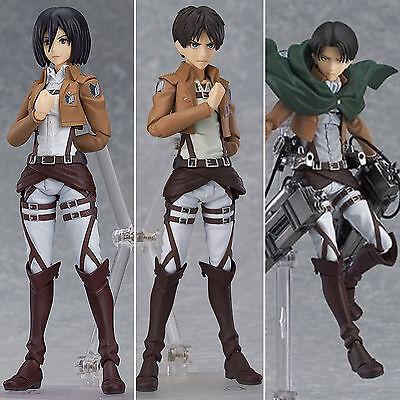 Attack on Titan Eren Mikasa Levi Shingki no Kyojin Action Figur Figuren Geschenk (Mikasa Figur)