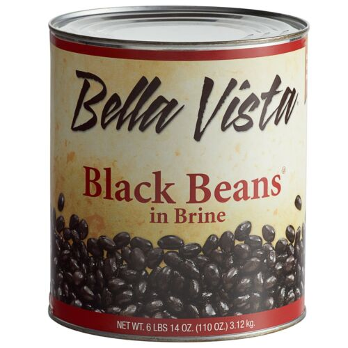 6 Case Canned Commercial Restaurant Hotel Diner Kitchen Black Beans in Brine
