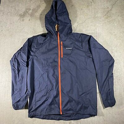NWT PATAGONIA HOUDINI Jacket Lightweight Windproof Full Zip Navy Blue Red 24141