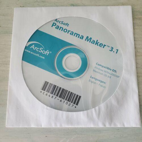 ArcSoft Panorama Maker 3.1 Windows 98/Me/2000/XP PC MAC OS 9/X Software CD Disc