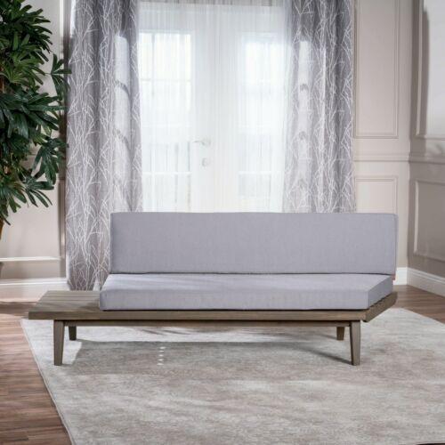 Emmory Indoor Minimalist Wood Left Sided Settee Furniture