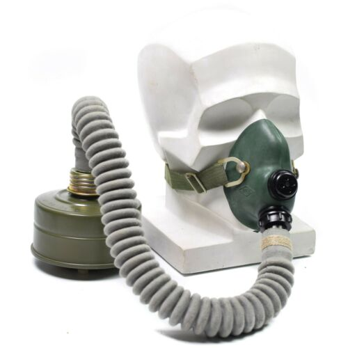 Original Soviet Russian pilot mask oxygen breathing face mask + bag + NBC filter