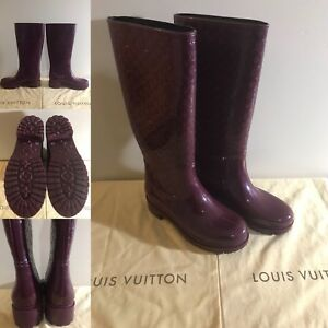 NEW Louis Vuitton Splash Rain Boots - Size 39