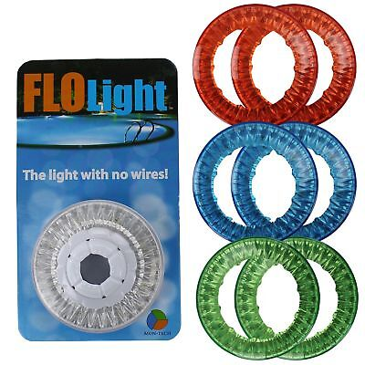 FloLight LED White Wireless Above Ground Swimming Pool Light + 6 Colored Lenses