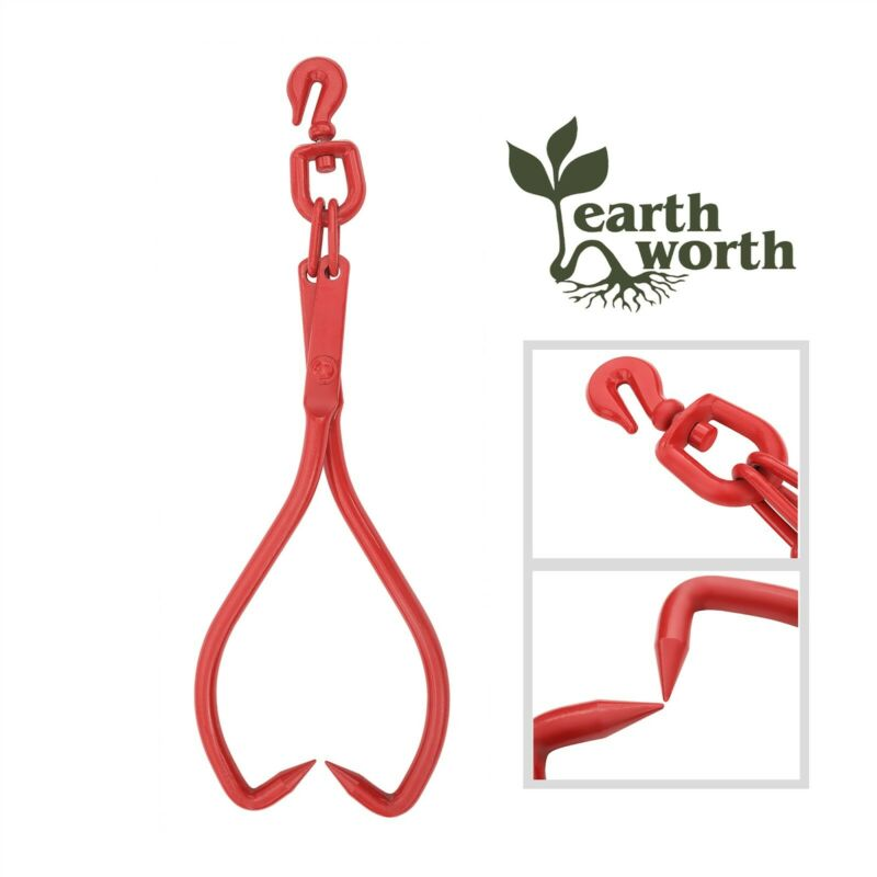 Skidding Swivel Tongs Ring Red 17 Inch Steel Log Lifting Dragging Log Tongs
