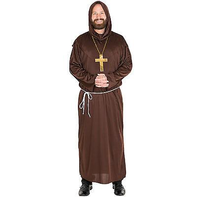 hskutte Karneval Fasching Halloween Herren Geistlicher Priester (Halloween Mönch)