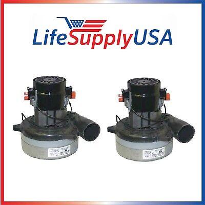 2 New Central Vac Vacuum Motors Fit AMETEK 119414-00 + Most 5.7
