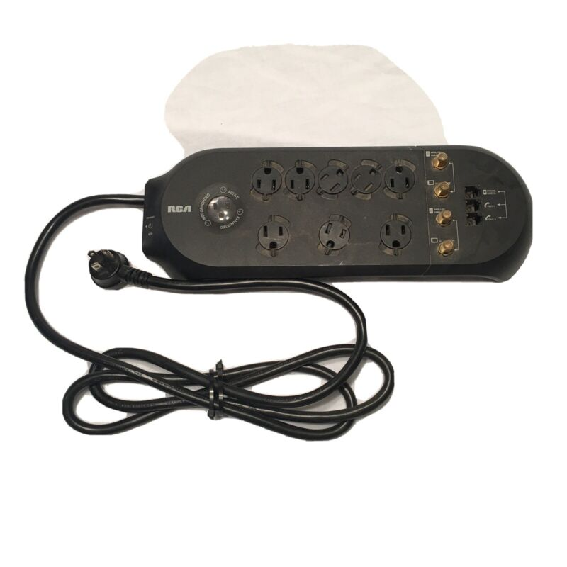RCA 8-Outlet Surge Protector with Phone / Coax Protection 2100 Joules