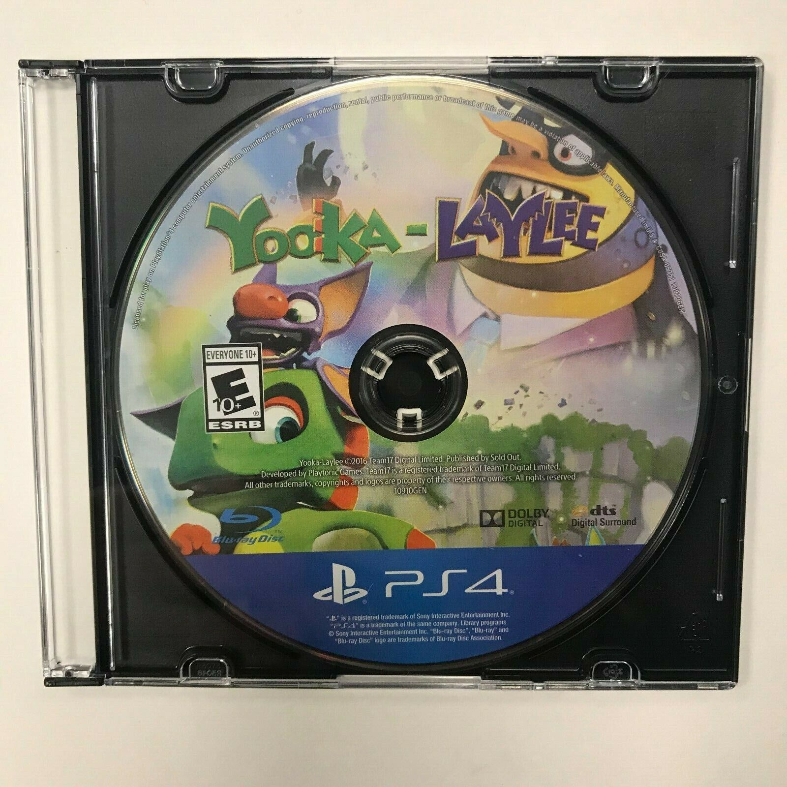 Yooka-Laylee PS4 Disc Only Tested Playstation 4 Sony