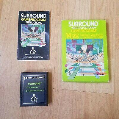 Surround Atari 2600 VCS PAL Boxed & Tested Text Label PAL