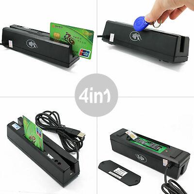 Multipurpose Magnetic Stripe Credit Card Emv Ic Chip Rfid Psam Reader Writer Us