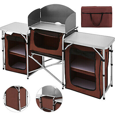 Cocina de Camping Portátil Mesa Multifuncional Cocina al Aire Libre Acampada