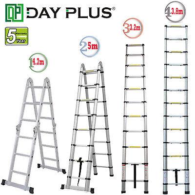 10.512.516.5ft Multipurpose Aluminum Ladder Fold Extend Telescopic Garden Tool
