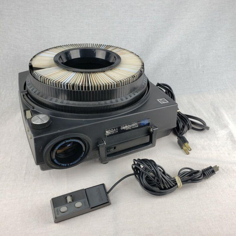 Vintage Kodak Auto-Focus 760H Carousel Slide Projector W/ Original Remote