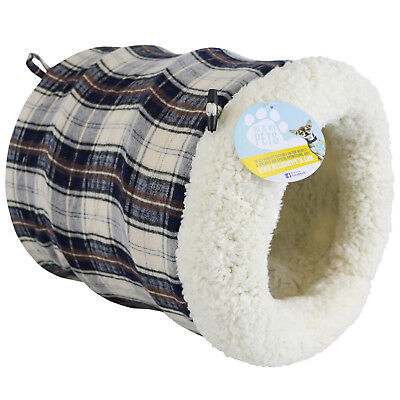 ME & MY PETS SUPER SOFT FLEECE CAT/KITTEN/RABBIT BED TUNNEL/PLAY POUCH/IGLOO