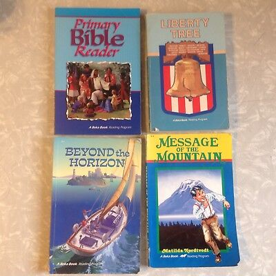 A Beka Readers 4th Grade, Lot of 4, Primary Bible Reader, plus 3 for sale  Oden