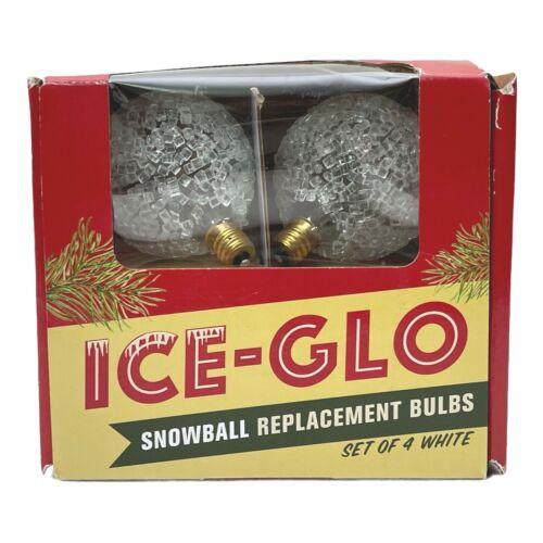 Ice Glo Sugar Coated Snowball Replacement Lights White 7 Watt Candelabra Bulbs