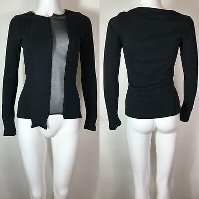 Rare Vtg Jean Paul Gaultier Black Sheer Panel Top S