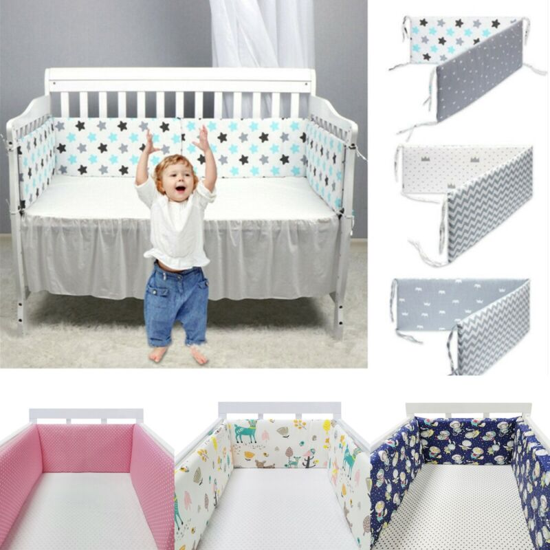 1pc Breathable Baby Crib Bumper Liner Mesh for Cradle newborn Crib Pads 78 inch