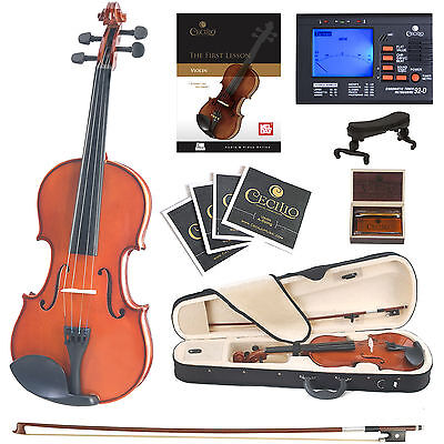 Cecilio 4/4 CVN-100 Student Violin +Book/Audio/Video+Tuner+Case
