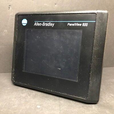 Allen Bradley 2711-t6c8l1 Ser B Frn 4.48 Panelview 600 Hmi Touchscreen Reman Plc